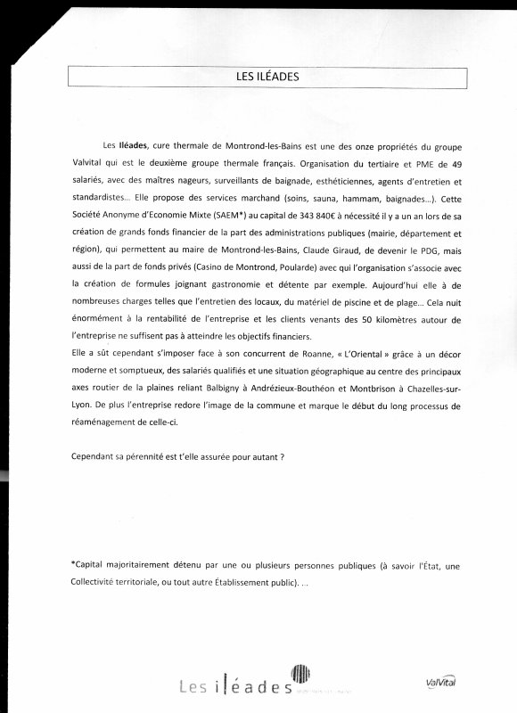 communication projet: Les iléades