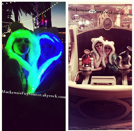 """JoeyKingamie et co-star de notre Kenzie a postée une photo accompagnée de """"Merci à mes amis les Foy pour ce chapeau extraordinaire ! C'était tellement amusant hier."""" Pour en conclure Kenzie, sa famille et Joey King était à DisneyLand le 20 Janvier"""