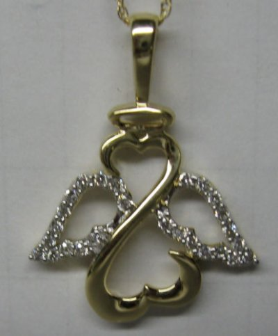 Ange collier de diamant
