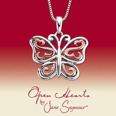Open Hearts par Jane Seymour ® Diamond Collier Papillon