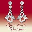 Open Hearts par Jane Seymour Boucles Ange ® Diamant