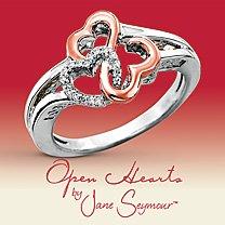 Open Hearts par Jane Seymour ® Anneau Coeur de diamant