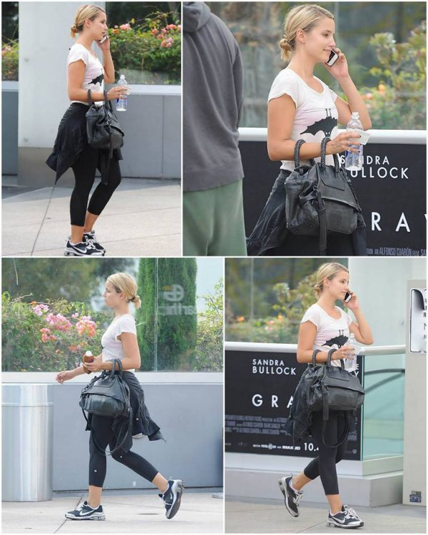 18/09/13 : Dianna sortant d'un cours de sport à Los Angeles !