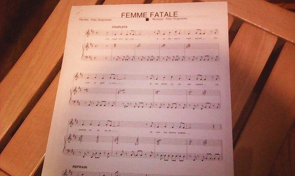 Femme fatale,partition......