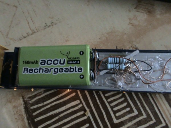 nouveau alimentation avec accu 9 volt