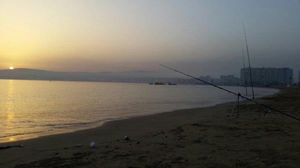 Vacances d'été à la peche Tanger