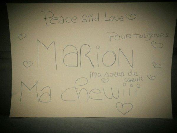 De la part de ma cousine:Maelle
