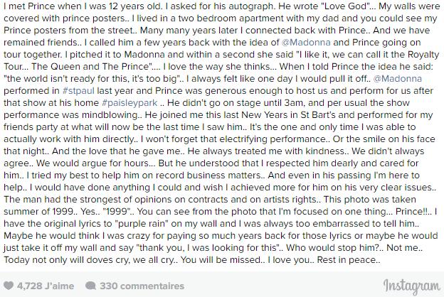 Prince: Une tournée avec Madonna ?