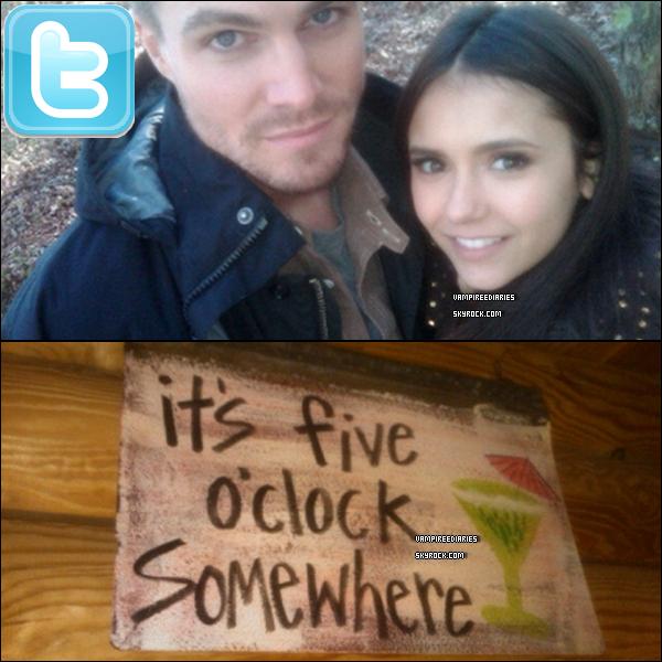 2 nouvelles photos que Nina a postée récemment, dont elle pose avec Stephen Amell