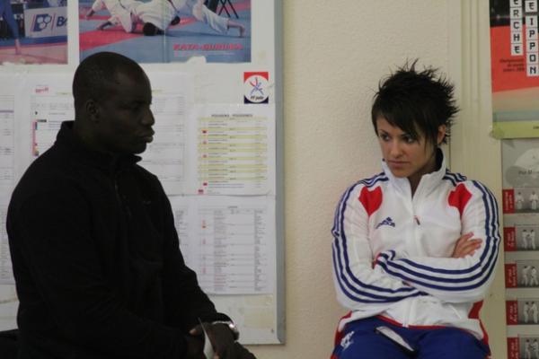 Sandy Scordo lors du stage Empi et mon professeur de kung fu :D