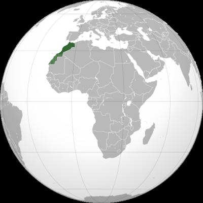 La carte du maroc ; Au Nord de l'Afrique ;