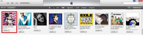 Classements iTunes Japon (jeudi 14 mars 2013)