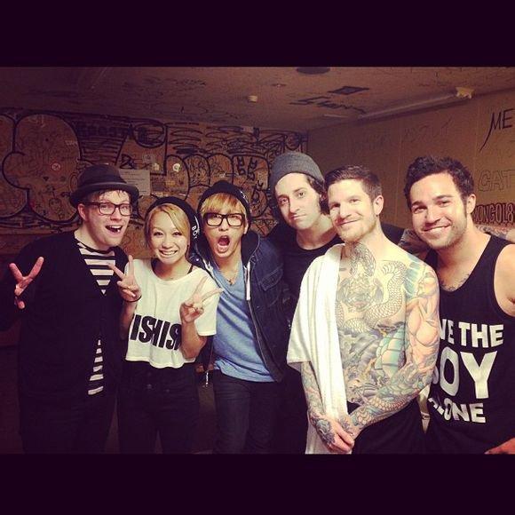 Kumi et Kenji avec les Fall Out Boys !