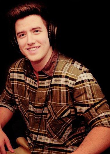 Logan listening to music