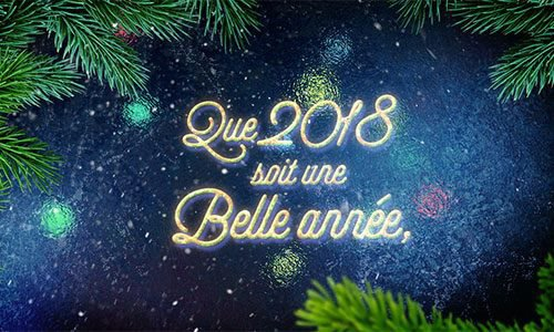 Meilleurs voeux année 2018