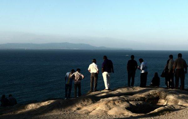 L'Espagne vue de Tanger ( Maroc )