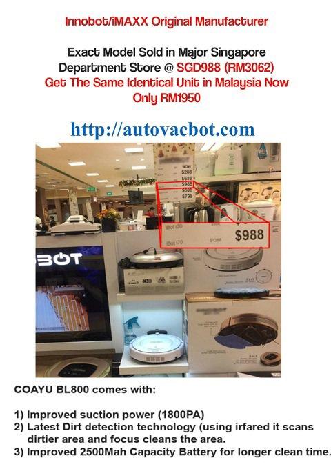 Coayu BL-800 Robotic Vacuum Tip Top in Kedah