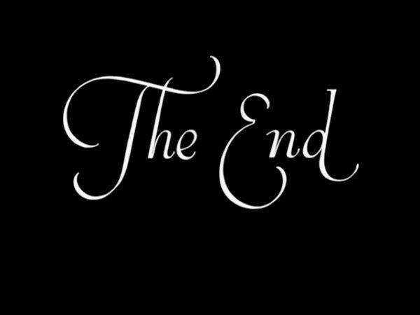 Toutes les bonnes choses ont une fin ...