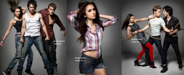 Découvrez un photoshoot dans lequel apparaissent les acteurs de[/font=arial black] Vampire Diaries. Ton avis ?