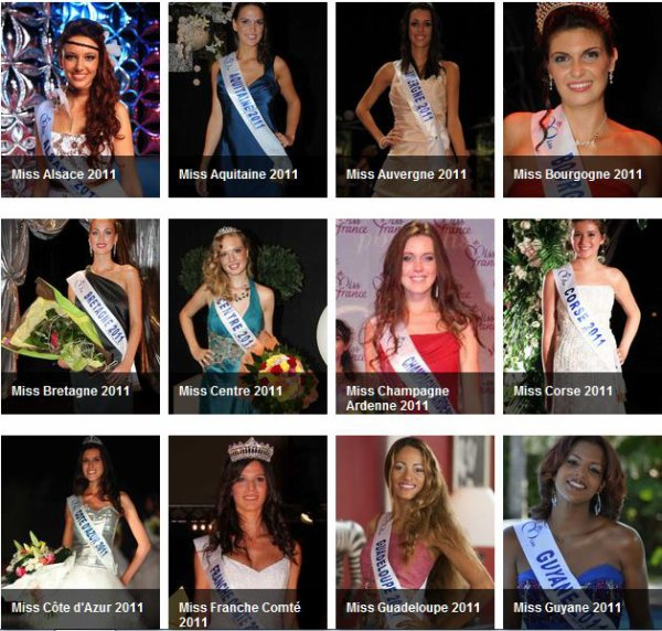 LES CANDIDATES A MISS FRANCE 2012