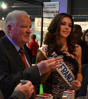 Miss france 2013, invitée spéciale du salon des vins à Mâcon