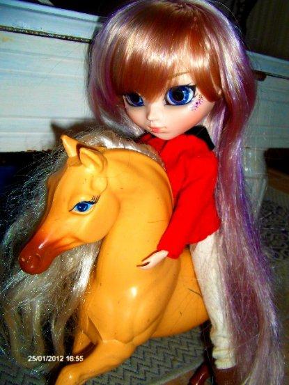 Misty à cheval