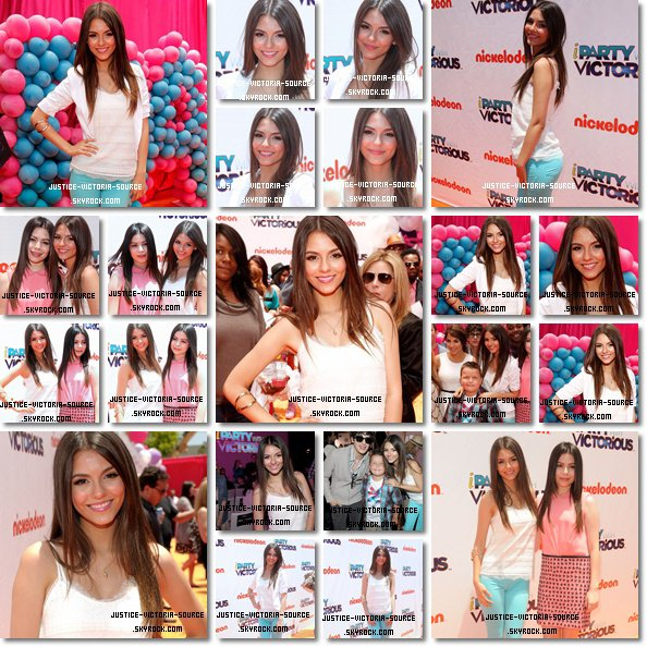 05 / 06 / 2011 – Victoria et le cast de Victorious – iCarly sur le red carpet pour la premiere de iParty with Victorious à Los Angeles.