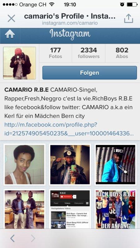 Instagram follow camario