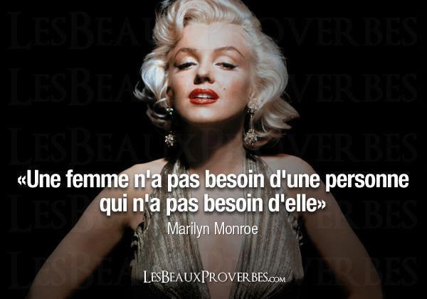 Les meilleures citation de marilyn monroe