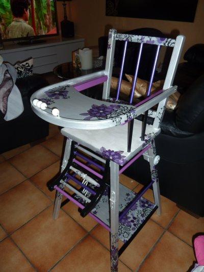 Une chaise haute pour ma princesse!!