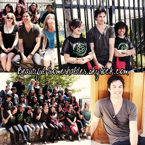 _________________________ 20/04/12 : Ian a visité le lycée Compton High School à Los Angeles.  _________________________