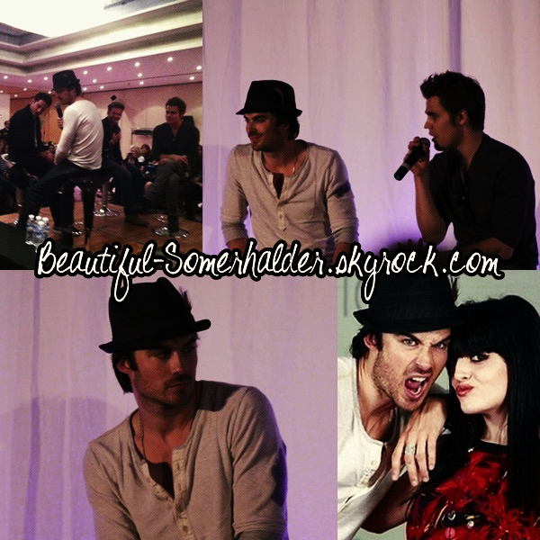 _________________________  06/05/12 : Ian et quelques membres du cast à la convention Bloody Night Con 2 à Barcelone.   _________________________