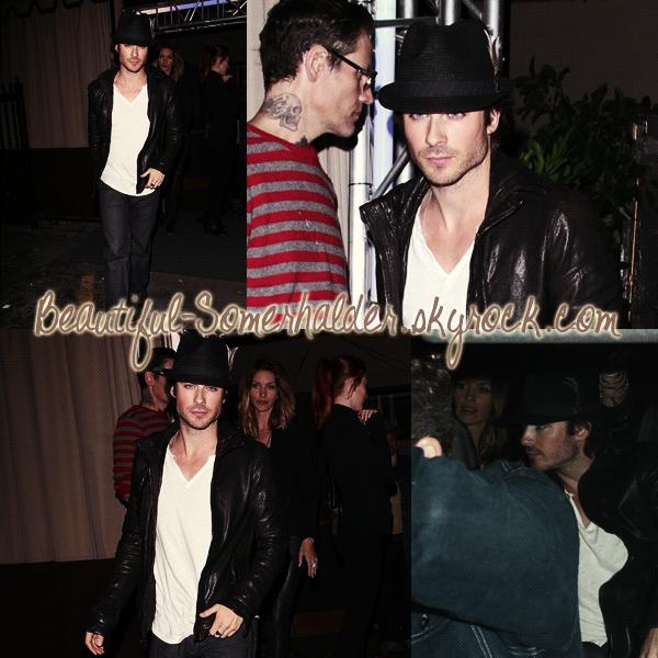 _________________________ 10/05/12 : Le sexy Ian sortant d'une boite de nuit dans Hollywood. __________________________________________________