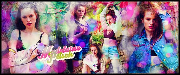 """"""" ● ● ● Bienvenue sur MadelainePetsch, ta source au quotidien sur Madelaine Petsch Suis sur ce blog toute l'actualité de l'actrice âgée de 23 ans, Madelaine Petschconnue pour son rôle de Cheryl Blossum dans Riverdale """""""