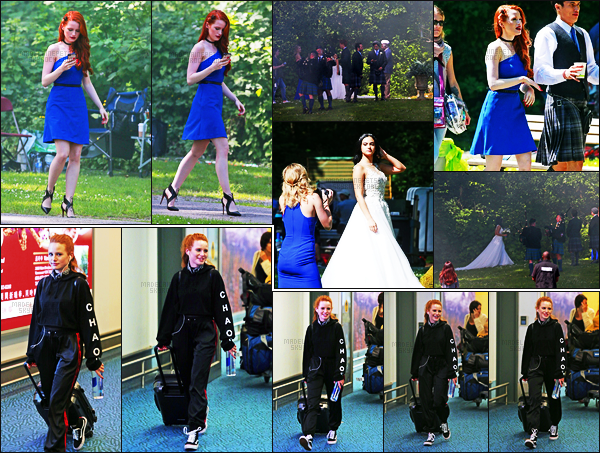 . 26.06.17 - Madelaine Petsch et le reste du cast de«Riverdale» ont été vus sur le set d'un nouveau shoot, au Canada Madelaine P. était sublime dans sa robe bleue, hâte de voir les photos de ce shoot ! Un peu plus tôt, elle était à l'aéroport de Vancouver ! .