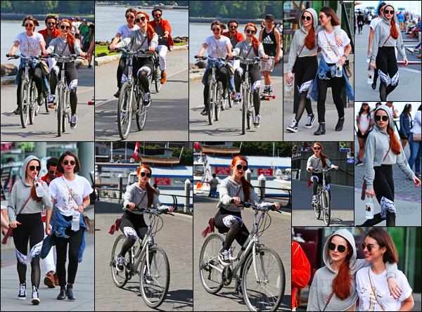 . 09.07.17 - Madelaine Petsch a été vue en compagnie de son amie Adelaide Kaneprenant du bon tempsàVancouver ! Les deux amies ont été repérées se baladant puis faisant du vélo près du Stanley Park à Vancouver. Je ne suis pas fan de cette tenue, bof  .