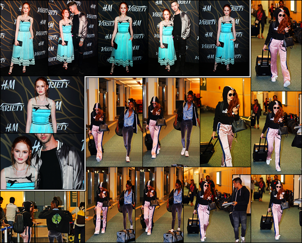 . 12.08.17 - Madelaine Petsch, a été aperçue à l'aéroport de Vancouver, pour prendre un vol direction Los Angeles, CA. C'est pour se rendre au Teen Choice Awards que la belle prend l'avion. Le 08 elle était au Variety Power Of Young Hollywood à LA ! Top. .
