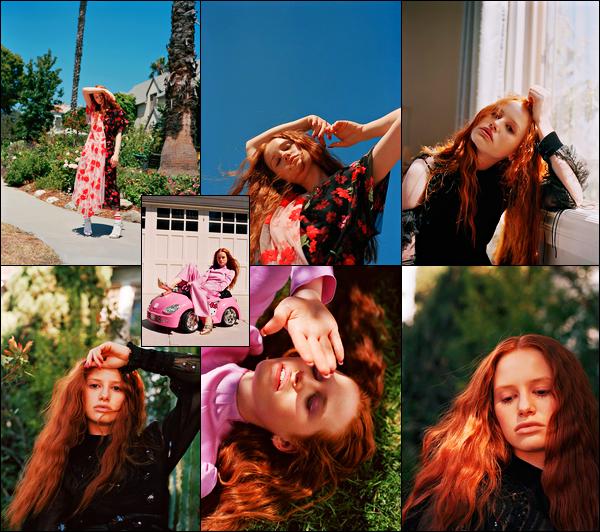 . Madelaine Petsch photographiée par Daria Kobayashi Ritch, pour « Flaunt » .