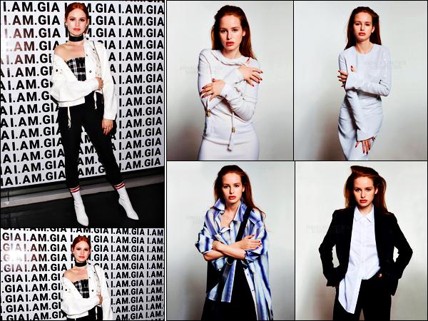 . 10.11.17 - Madelaine Petschs'est rendue à la soirée de lancement de la marque «I.AM.Gia» ayant lieu àLos Angeles ! Après un long moment sans aucunes nouvelles, notre sublime rousse a été vue à cette soirée. Découvrez les photos de Mad' pour Prestige .