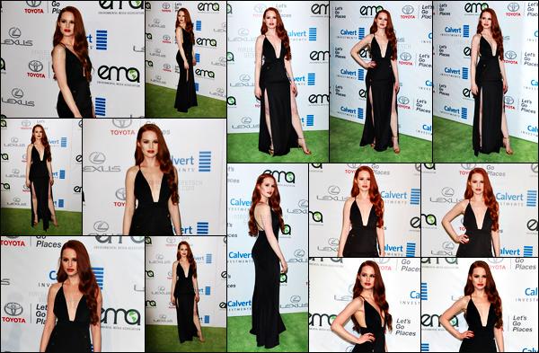 . 22.10.16 - Madelaine Petschs'est rendue aux «26th Annual EMA Awards »'▬'ayant lieu auxWarner Bros Studio ! Comme de nombreuses célébrités Madelaine était également présente lors de cette soirée, et nous à coupée de souffle dans sa tenue, top .