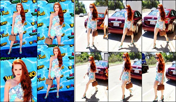 . 13.08.16 - Madelaine Petschétait présente à la «4th Annual Just Jared Summer Bash »'▬'situé dansLos Angeles Elle a également était photographiée arrivant à l'événement un peu plus tôt dans la journée. Pour ma part c'est un autre top pour Made' ! .