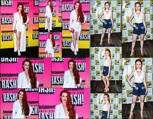 . 23.07.16 - Madelaine Petschet le cast de Riverdale aux «Entertainment Weekly's Comic-Con»'▬'àLos Angeles ! C'est à deux reprises que la belle Madelaine Petsch a été photographiée lors de cette journée, j'accorde un top pour ses deux tenues, top? .