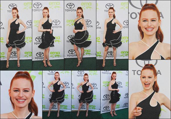 . 22.05.18 - Madelaine Petschs'est rendue aux «28th Environmental Media Association Awards » ' ▬'Beverly Hills Nous retrouvons Madelaine sur le Green Carpet, concernant la tenue je ne suis pas fan de bas... En revanche j'adore le haut et les talons ! .
