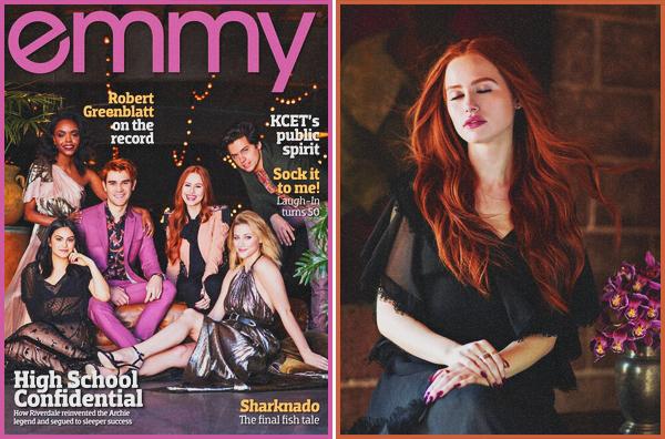 . Le cast de Riverdale en couverture du « EMMY Magazine » • issue août 2018 .