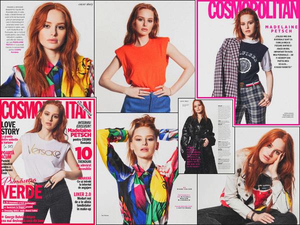 . -—--Madelaine Petsch a réalisée un shoot pour le « Cosmopolitan Romania » .