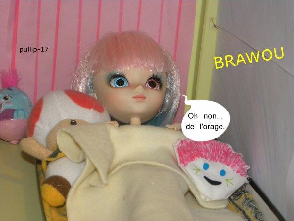 Zoélie à peur de l'orage !