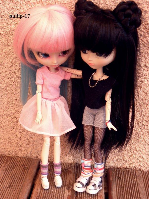 Quelques photos de mes belles Zoélie et Kim!