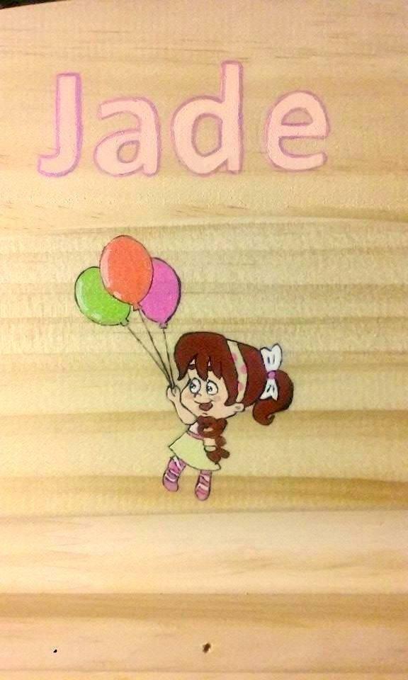 """peinture sur lit pour doudou """"JADE"""""""