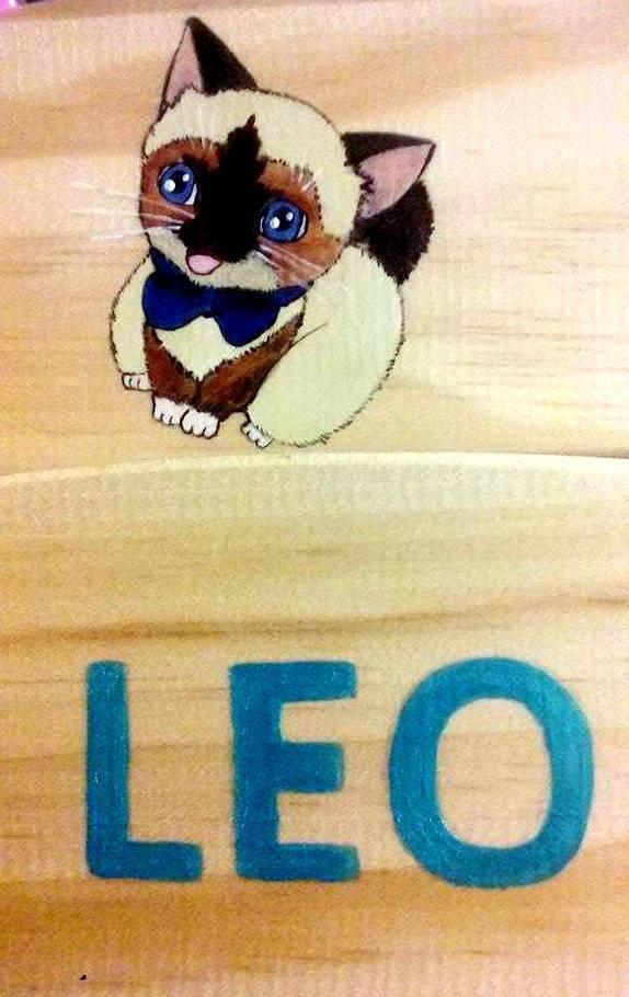 """peinture sur lit pour doudou """"LEO"""""""