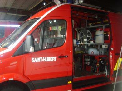nouveau véhicule pompier de saint-hubert